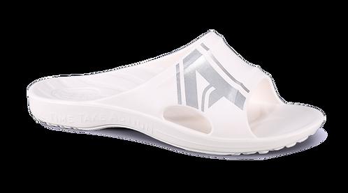 潮感個性足弓拖鞋-白銀