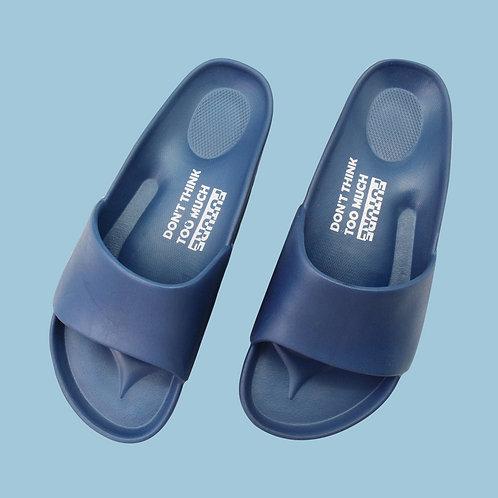 流線活力室外拖鞋-藍