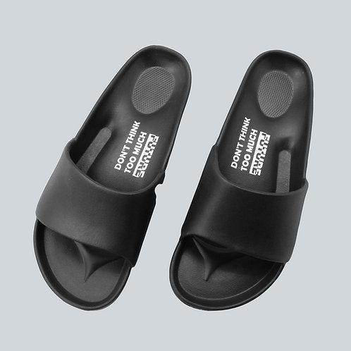 流線活力室外拖鞋-黑