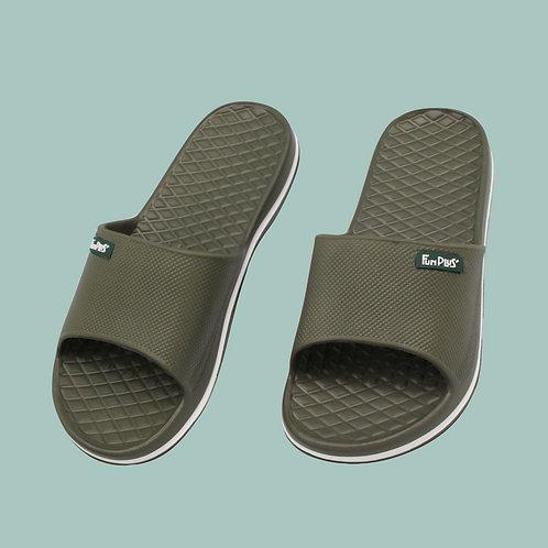晶亮菱格紋室外拖鞋-綠