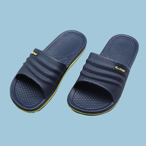 樂活休閒中性拖鞋-深藍