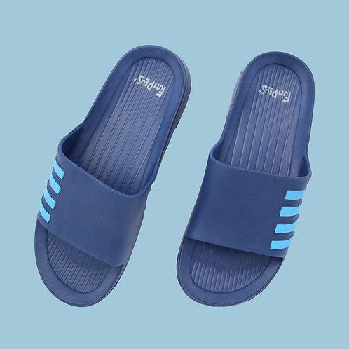 造型休閒室外拖鞋-藍