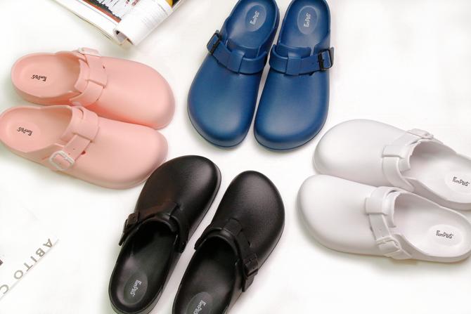 Fun Plus+ 美式休閒★樂活包頭室外拖鞋