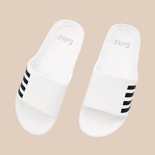 造型休閒室外拖鞋-白