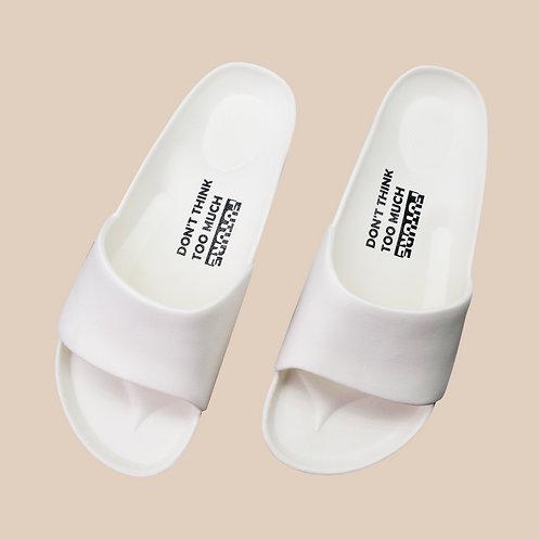 流線活力室外拖鞋-棉花糖白