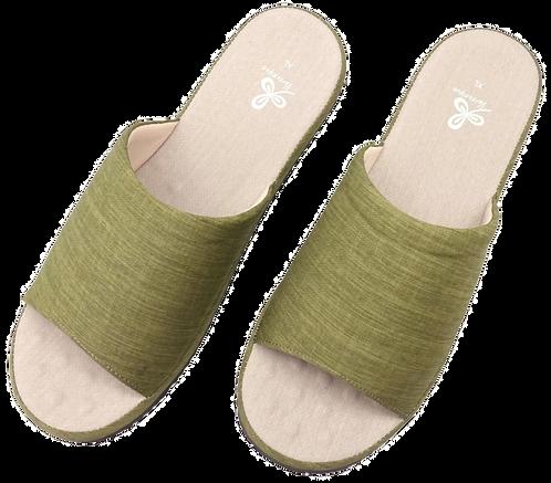 冰咖啡紗舒壓乳膠室內拖鞋-綠