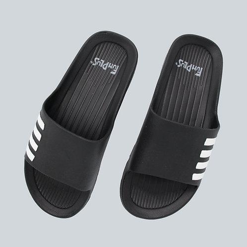 造型休閒室外拖鞋-黑