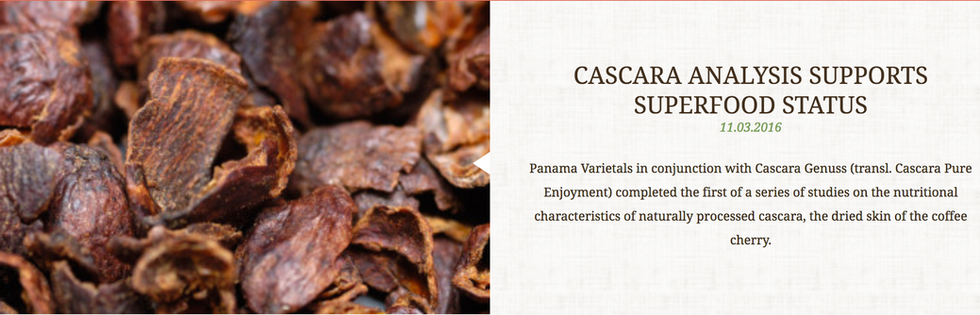 CASCARA ANALYSIS SUPPORTS SUPPER FOOD STATUS