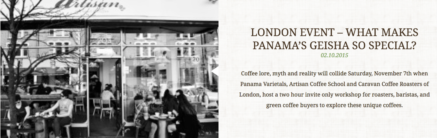 LONDON EVENT - WHAT MAKES PANAMA'S GEISHA SO SPECIAL?