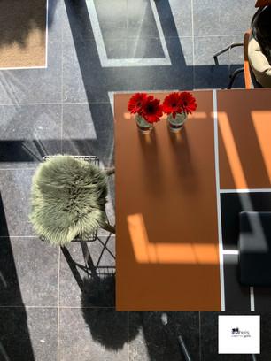 Interieurprint tafel