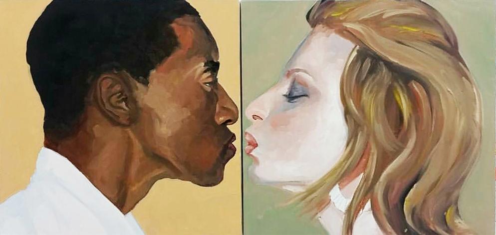 beijo negro e branca