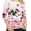 Thumbnail: Haut en jersey floral avec rayures et strass