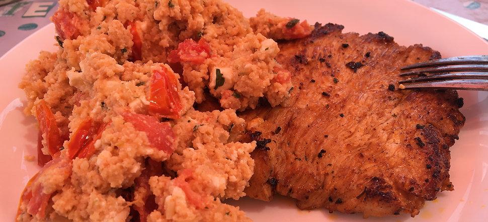 Couscous Salat mit Hähnchen