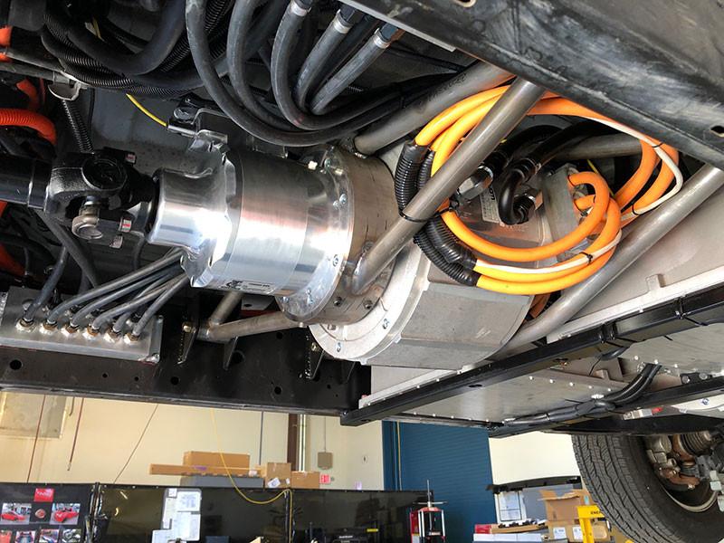 EV transmission and motor