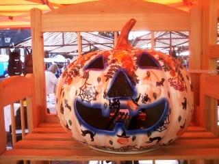 Stoneware Pottery Pumpkin