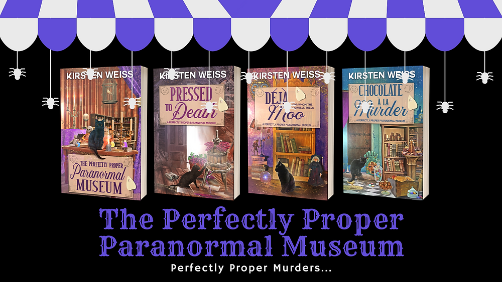 The Perfectly Proper Paranormal Museum series - book covers