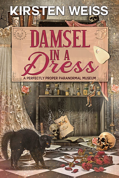 Damsel in a Dress book cover - A Perfectly Proper Paranormal Museum Mystery