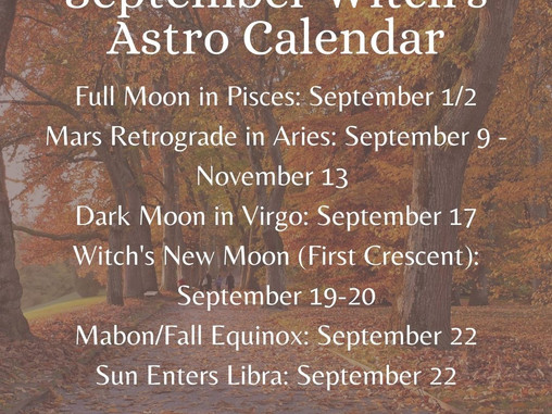 September Astro Calendar