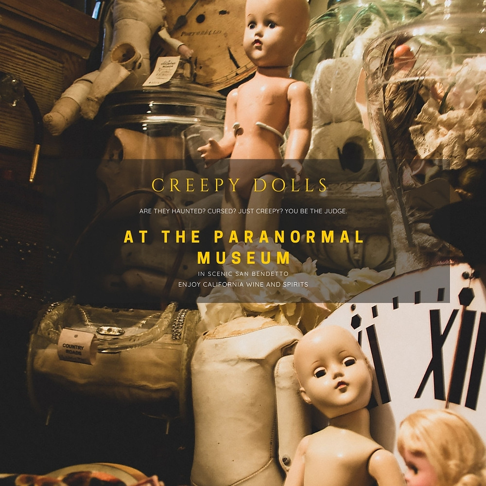 Creepy doll collection at the San Benedetto Paranormal Museum