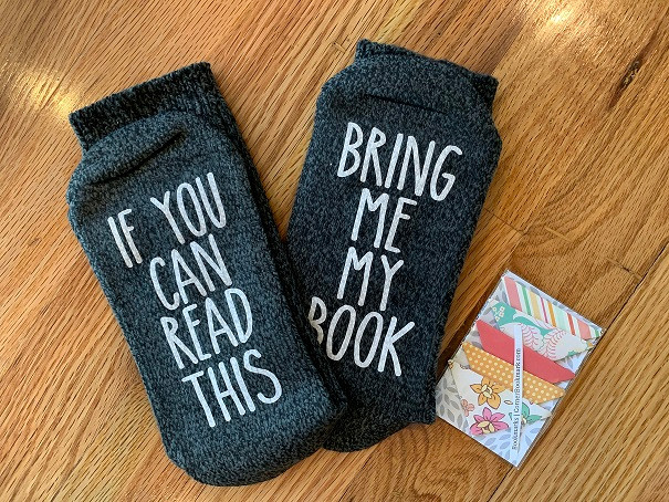 Socks: If you can read this, bring me my book, plus bookmarks