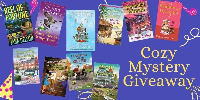 Cozy Mystery Giveaway image. Click to follow link.