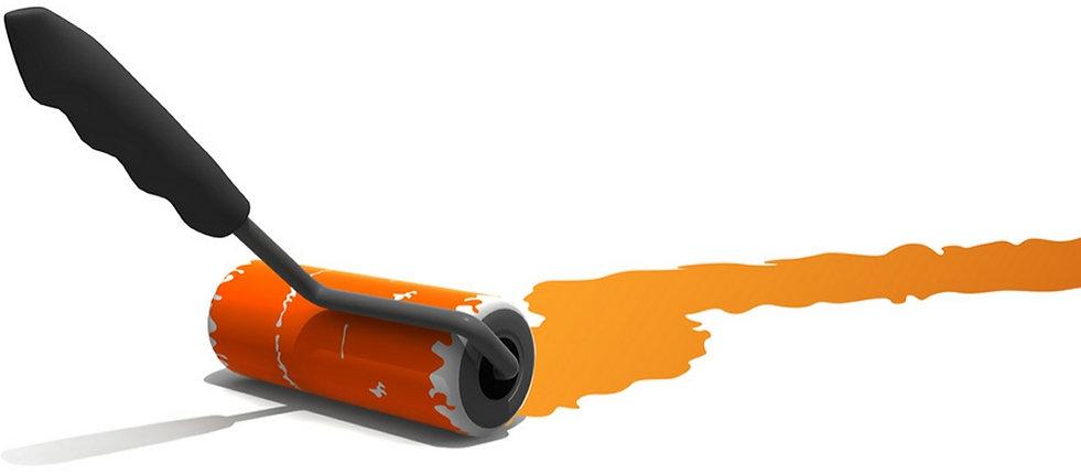 peinture au rouleau