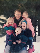 Chef Jeff with his family on a snow trip back in the 90's