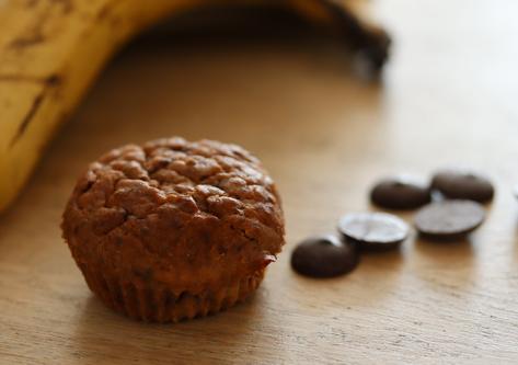 Muffins banane-chocolat sans gluten, sans produit laitier, sans sucre pour enfants