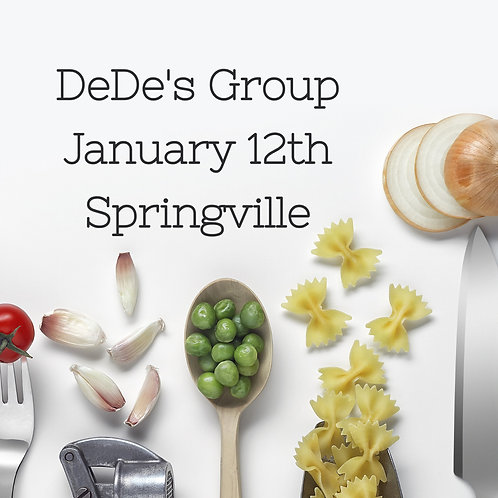 Dede & Jenny's Private Group -  January 12, 7:00pm