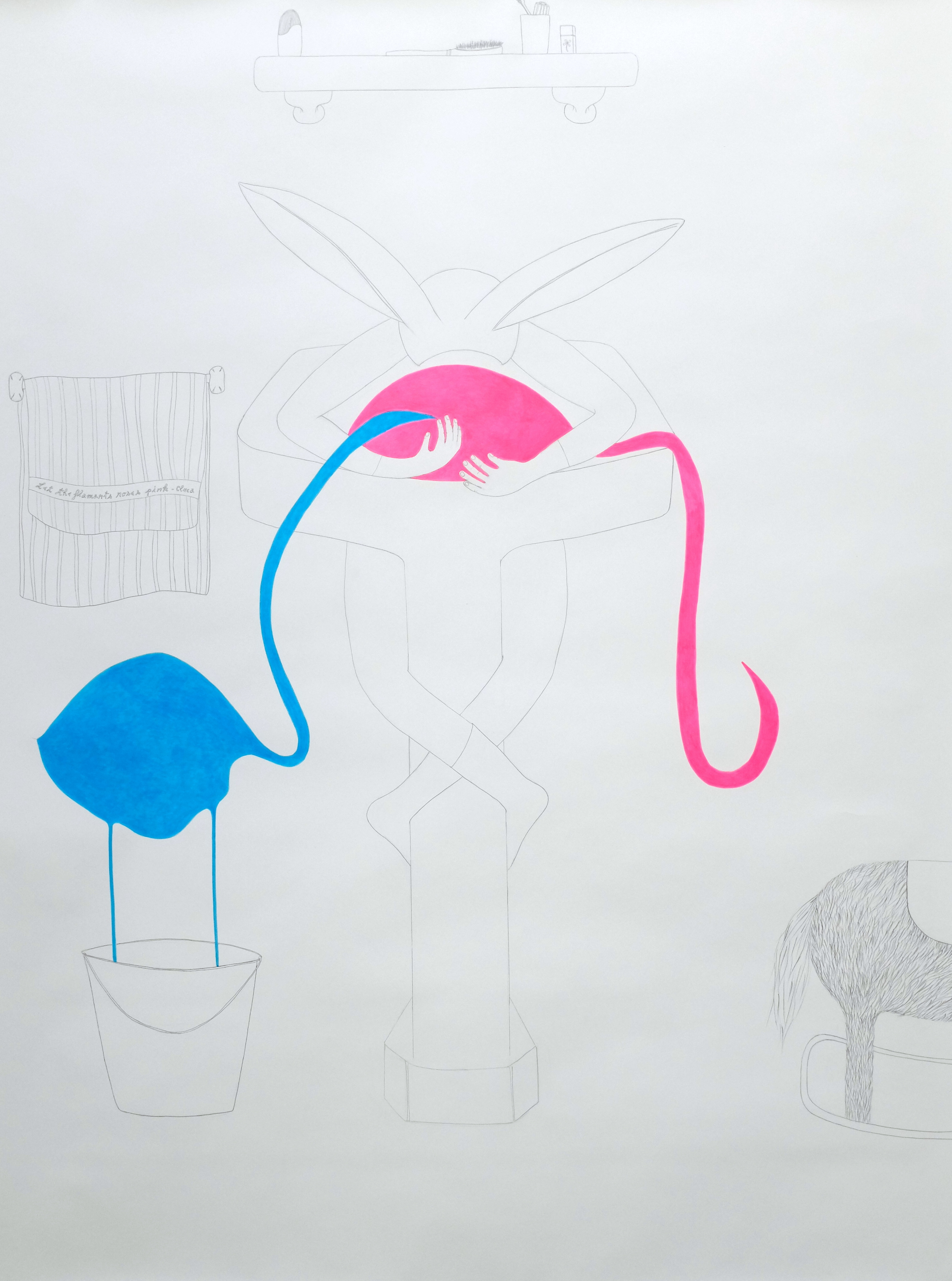 Let the flamants roses pink