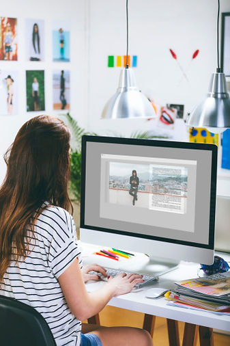 Female Using Computer