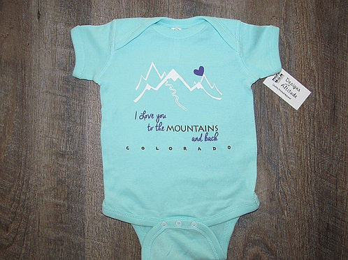 Love you to the Mountains and Back Onesie