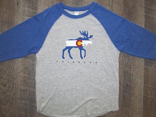 CO Moose Baseball Tee