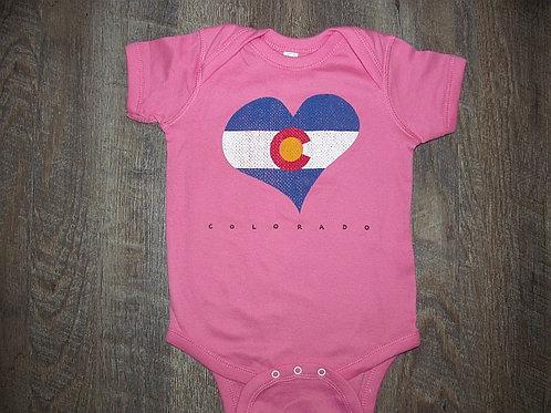 Colorado Heart Onesie