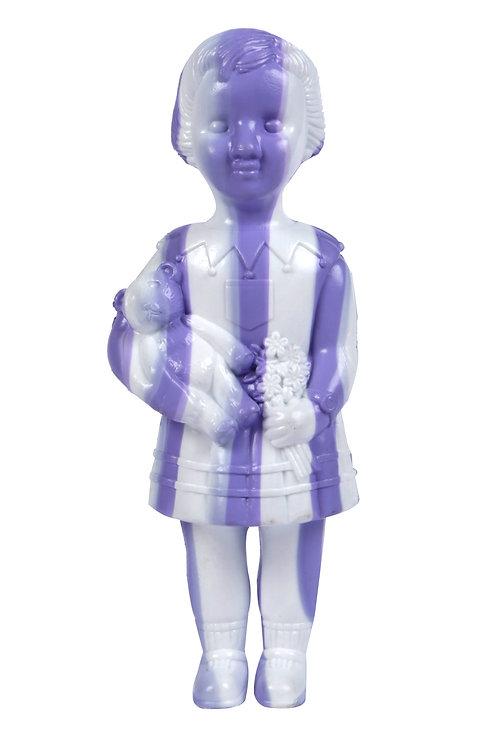 White & Purple Stripe Clonette Doll