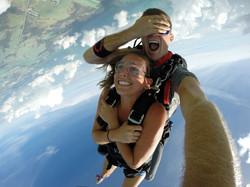 Skydiving over the Florida Keys