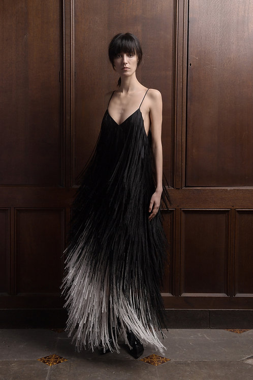 Silk Fringe Camisole Dress