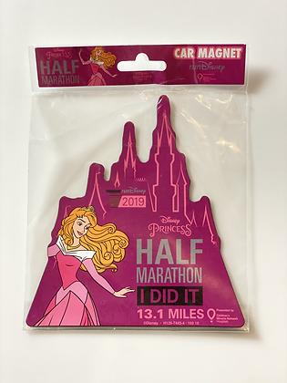 2019 Princess Half Marathon Car Magnet