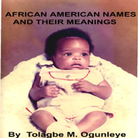 African American names and their meanings Book