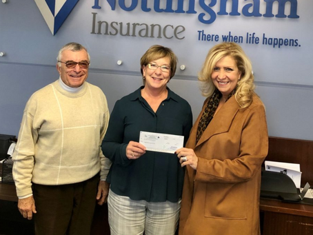 A Legacy of Giving Back: Nottingham Insurance Awarded $10,000