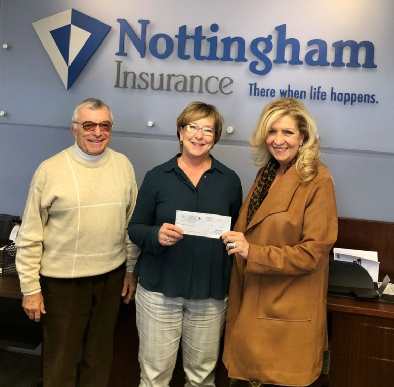 Nottingham Insurance Delivers Check to Mobile Meals of Hamilton