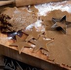 swedish organic pastry star cutting from