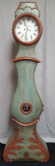 CL124 fryksdal turquoise1800s antique swedish mora clock for sale uk