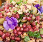 organic salad with edible flowers from m