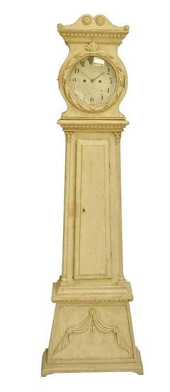Off White Gustavian Swedish Mora Clock 1800s