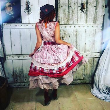ewa i walla red country check dress made