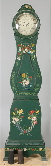 CL144 Mora Clock Green 1800s Flowers Decoration 200cm