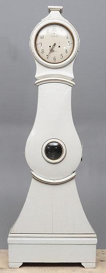 CL173 Mora Clock Swedish Antique white 1800s 208cm