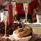 christmas table setting from madeleine l