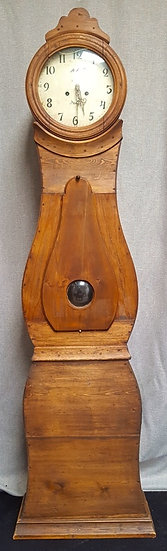 CL131 natural 1800s antique swedish country mora clock for sale uk